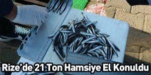 Rize'de 21 Ton Hamsiye El Konuldu