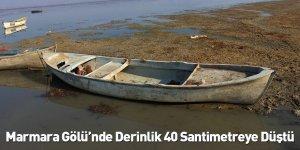 Marmara Gölü'nde Derinlik 40 Santimetreye Düştü