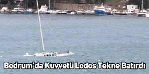 Bodrum'da Kuvvetli Lodos Tekne Batırdı