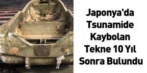Japonya'da Tsunamide Kaybolan Tekne 10 Yıl Sonra Bulundu