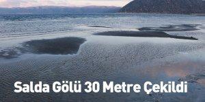 Salda Gölü 30 Metre Çekildi