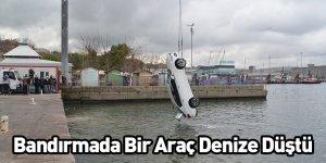 Bandırmada Bir Araç Denize Düştü