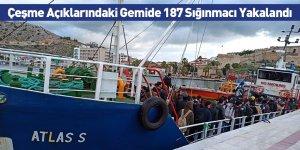 Çeşme Açıklarındaki Gemide 187 Sığınmacı Yakalandı