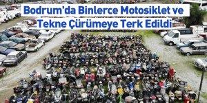 Bodrum'da Binlerce Motosiklet ve Tekne Çürümeye Terk Edildi