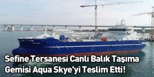 Sefine Tersanesi Canlı Balık Taşıma Gemisi Aqua Skye'yi Teslim Etti!