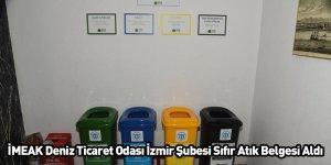 İMEAK Deniz Ticaret Odası İzmir Şubesi Sıfır Atık Belgesi Aldı