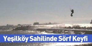 Yeşilköy Sahilinde Sörf Keyfi