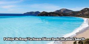 Fethiye'de Rengi Turkuaza Dönen Deniz Görenleri Şaşırttı