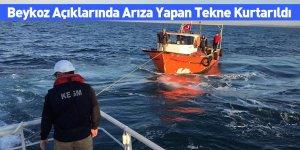 Beykoz Açıklarında Arıza Yapan Tekne Kurtarıldı