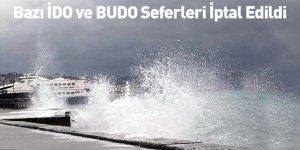 Bazı İDO Ve BUDO Seferleri İptal Edildi