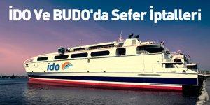 İDO Ve BUDO'da Sefer İptalleri