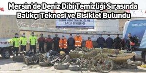 Mersin'de Deniz Dibi Temizliği Sırasında Balıkçı Teknesi ve Bisiklet Bulundu