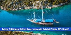 Tekne Tatilindeki Erken Rezervasyonda Doluluk Yüzde 35'e Ulaştı!