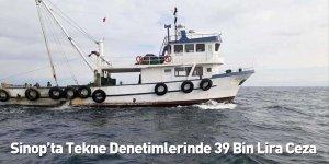 Sinop'ta Tekne Denetimlerinde 39 Bin Lira Ceza