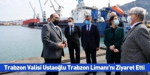 Trabzon Valisi Ustaoğlu Trabzon Limanı'nı Ziyaret Etti