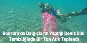 Bodrum'da Dalgıçların Yaptığı Deniz Dibi Temizliğinde Bir Ton Atık Toplandı