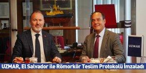 UZMAR, El Salvador ile Römorkör Teslim Protokolü İmzaladı