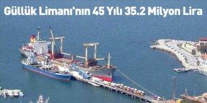 Güllük Limanı'nın 45 Yılı 35.2 Milyon Lira