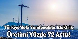 Türkiye'deki Yenilenebilir Elektrik Üretimi Yüzde 72 Arttı!