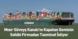Mısır Süveyş Kanalı'nı Kapatan Geminin Sahibi Firmadan Tazminat İstiyor