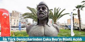 İlk Türk Denizcilerinden Çaka Bey'in Büstü Açıldı