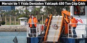Mersin'de 1 Yılda Denizden Yaklaşık 450 Ton Çöp Çıktı