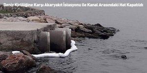 Deniz Kirliliğine Karşı Akaryakıt İstasyonu ile Kanal Arasındaki Hat Kapatıldı