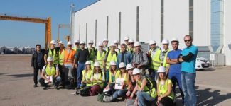 Belçikalı gemi inşa öğrencileri Özata Tersanesi'ni ziyaret etti