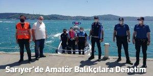 Sarıyer'de Amatör Balıkçılara Denetim