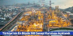 Türkiye'nin En Büyük 500 Sanayi Kuruluşu Açıklandı
