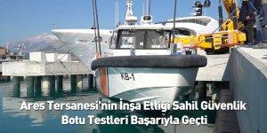 Ares Tersanesi'nin İnşa Ettiği Sahil Güvenlik Botu Testleri Başarıyla Geçti