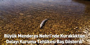Büyük Menderes Nehri'nde Kuraklıktan Dolayı Kuruma Tehlikesi Baş Gösterdi