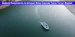 Akdeniz Kanyonlarını Aratmayan Botan Çayında Tekne Turları Başladı