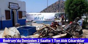 Bodrum'da Denizden 2 Saatte 1 Ton Atık Çıkardılar
