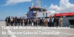 TÜBİTAK Marmara Araştırma Gemisi İlk Deprem Seferini Tamamladı