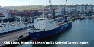 KRN Lines, Misurata Limanı'na İlk Seferini Gerçekleştirdi