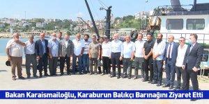 Bakan Karaismailoğlu, Karaburun Balıkçı Barınağını Ziyaret Etti