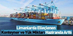 Limanlarda Elleçlenen Konteyner ve Yük Miktarı Haziranda Arttı