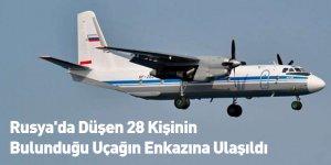 Rusya'da Düşen 28 Kişinin Bulunduğu Uçağın Enkazına Ulaşıldı