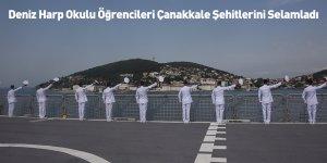 Deniz Harp Okulu Öğrencileri Çanakkale Şehitlerini Selamladı