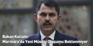 Bakan Kurum: Marmara'da Yeni Müsilaj Oluşumu Beklenmiyor