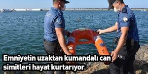 Emniyetin uzaktan kumandalı can simitleri hayat kurtarıyor