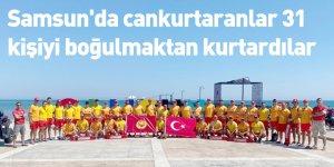 Samsun'da cankurtaranlar 31 kişiyi boğulmaktan kurtardılar