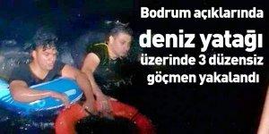 Bodrum açıklarında deniz yatağı üzerinde 3 düzensiz göçmen yakalandı