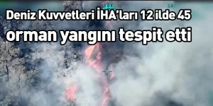 Deniz Kuvvetleri İHA'ları 12 ilde 45 orman yangını tespit etti