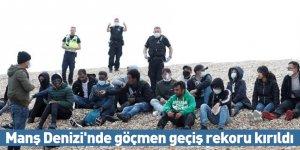 Manş Denizi'nde göçmen geçiş rekoru kırıldı