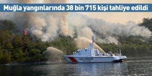 Muğla yangınlarında 38 bin 715 kişi tahliye edildi