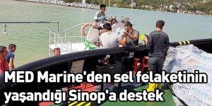 MED Marine'den sel felaketinin yaşandığı Sinop'a destek