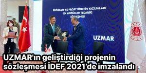 UZMAR'ın geliştirdiği projenin sözleşmesi İDEF 2021'de imzalandı