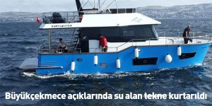 Büyükçekmece açıklarında su alan tekne kurtarıldı